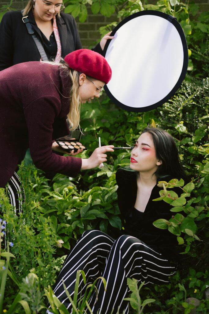 Botanic portret shoot: Behind the scene